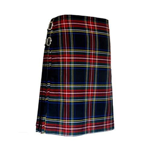 Mxssi Casual Plisado Kilts escocés Hombres Moda Pantalones