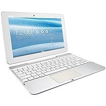 """Asus Transformer Pad - Tablet de 10.1"""" (WiFi 802.11 b/g/n + Bluetooth 4.0, 16 GB, 1 GB RAM, Android 4.4 KitKat, incluye teclado Qwerty), blanco"""