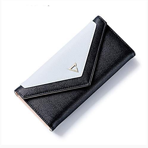 Umschlag Brieftasche Damen Design Damen Brieftasche Kartenhalter Handy Münzfach Damen Brieftasche 18,8x9 cm schwarz -