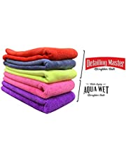 Wavex MF5 Microfiber Cloths for Car Detailing and Washing 40X40CM (3 Detailing Towels 350GSM, 2 Water Drying Towels 340GSM)