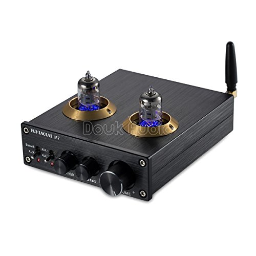 Nobsound Bluetooth HiFi 6J1 Vacuum Tube Preamplifier Stereo PreAmp Digital Treble & Bass Tone Control Bluetooth Röhrenvorverstärker Audio vorverstärker (Black)