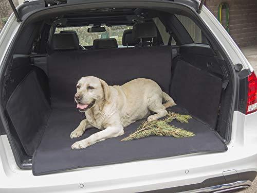 Hundedecke für den Kofferraum mit praktischer Tasche My Trunk Cover to GO, Hunde Kofferraumdecke mit Ladekantenschutz und Seitenschutz, schützt das Auto vor Kratzer Hund Haare und Flüssigkeiten -