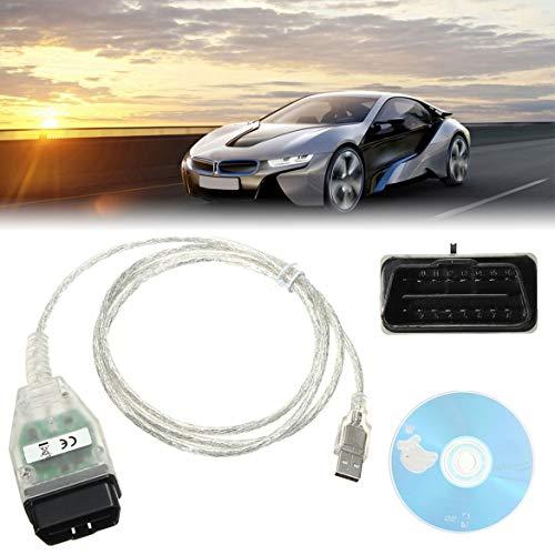 Ligne de détection de câble USB de Diagnostic de Voiture Universelle Stlying K + Interface USB DCAN Compatible avec INPA pour BMW (Coque Blanche et Panneau Vert)