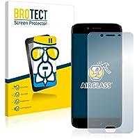BROTECT AirGlass Protector Pantalla Cristal Flexible Transparente para Oppo R9s Protector Cristal Vidrio - Extra-Duro, Ultra-Ligero, Ultra-Claro