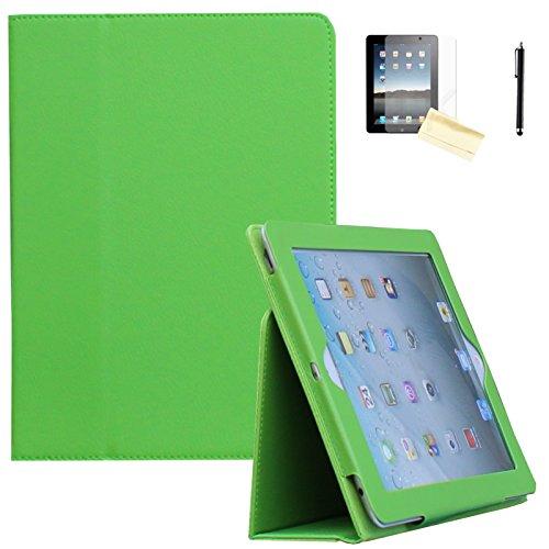 Air 2Hülle-jytrend (R) Folio Ständer magnetisch Smart Cover für Apple iPad Air (2013Version)/Air 2(2014Version) mit Auto Wake/Sleep, Grün ()