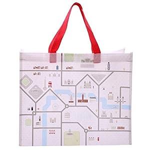 Divertido diseño de mapa de Londres resistente reutilizable bolsa de la compra necesidad de un práctico, ligero y resistente