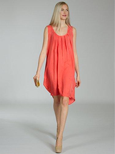 CASPAR SKL011 leichtes hauchzartes Damen Sommerkleid / Strandkleid Koralle
