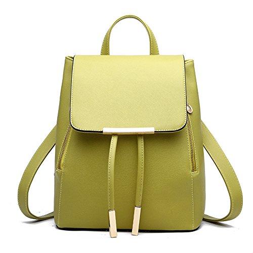 Sacchetto di spalla dello zaino delle signore delle ragazze delle donne delle donne del zaino del sacchetto di spalla di Myleas Verde