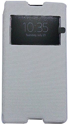 Sony Xperia C Flip Cover S-View With Screen Protector (White)