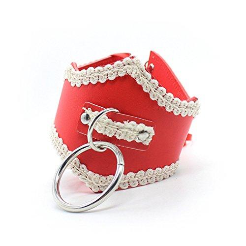 halsband sm Geschirre Halsbände mit Spitze Collar Sklaverei Necklaces Leder SM Fetish Bondage Cosplay Sex Spielzeug für Paare Damen Herren verstellbaren