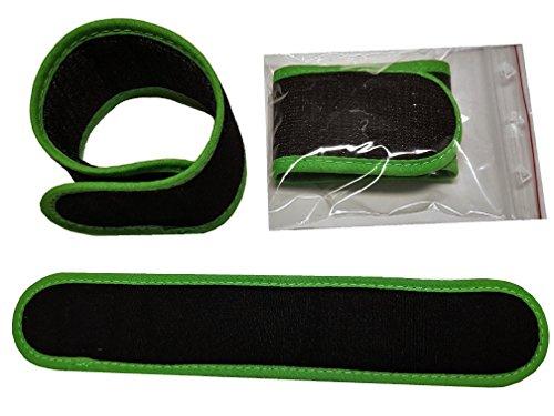 10 x Haushaltsklett 25 cm x 4 cm weiches Material Premium Anglerwelt24 ( Schwarz grün )