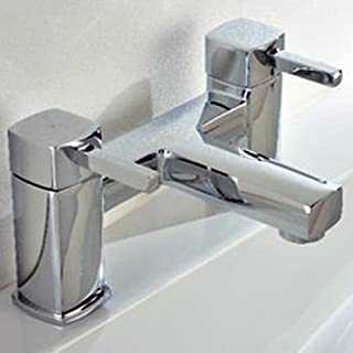 Alfred Victoria Modern Bath Filler Brass Mixer Tap Y03 - Chrome Finish