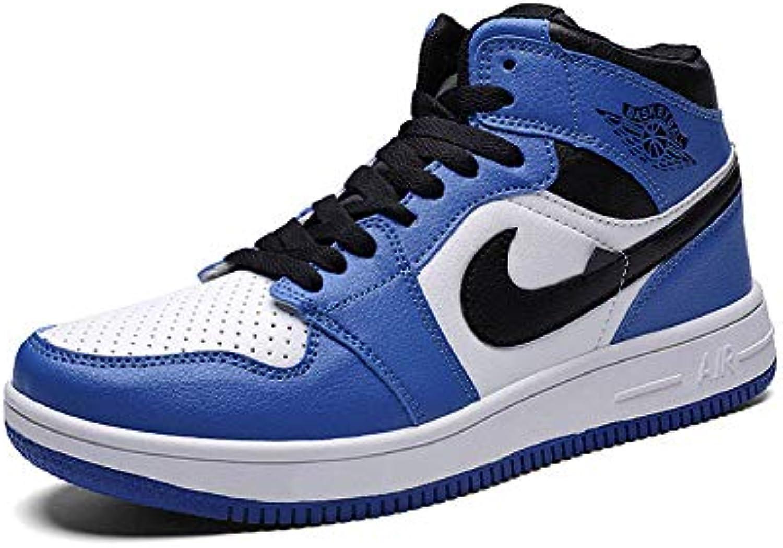 YSZDM Scarpe da Basket, scarpe da ginnastica Uomo Wear-Resistente Antiscivolo High-Top Basket Trainer Ammortizzazione Stivali... | Ideale economico  | Maschio/Ragazze Scarpa