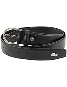 LACOSTE Curved Stitched Edges Belt W110 Black