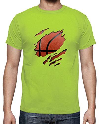 tostadora - T-Shirt Korb - Manner Pistazie L -