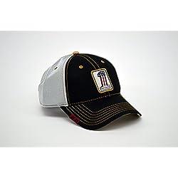 Harley Davidson Men 's rwb # 1Patch Mesh Gorra de béisbol, Black & White Tapa