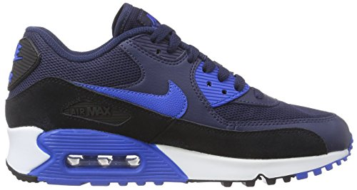 Nike Air Max 90 616730, Damen Laufschuhe Training Blau (Midnight Navy/Sr-Blk-Pr Pltnm)
