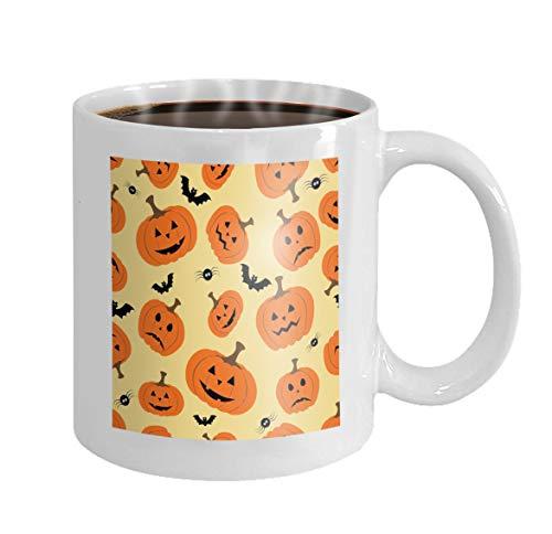 11 oz Coffee Mug halloween pumpkin bat spider file layered easy manipulation custom coloring Colored