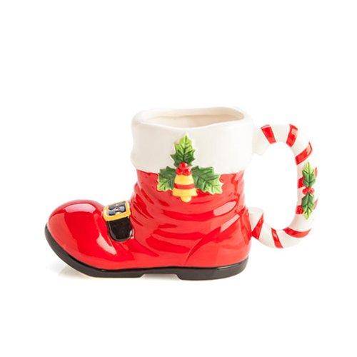 Keramik Weihnachts Tasse Santa Shoe -