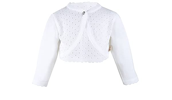 99d98d157 Lilax Baby Girls Knit Long Sleeve One Button Closure Bolero Shrug 3333