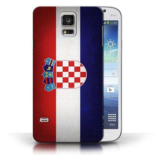 Coque en plastique pour Samsung Galaxy S5/SV Collection Drapeau - Pays de Galles/gallois Croatie