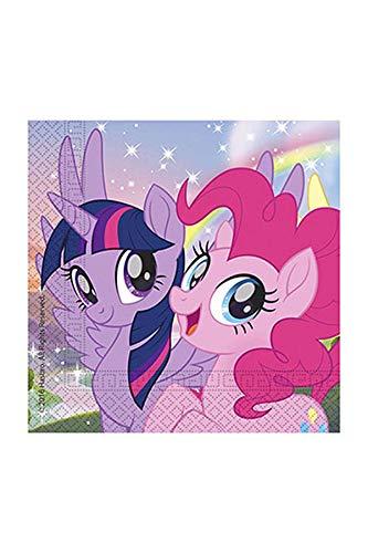 Generique - 20 Papierservietten Mein kleines Pony 33 x 33 cm Twilight Sparkle Pinkie Pie