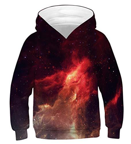 Idgreatim Kind Pullover Mädchen Jungen Hoodies 3D Printed Sweatshirts Neuheit Unisex Mit Kapuze Pullover L