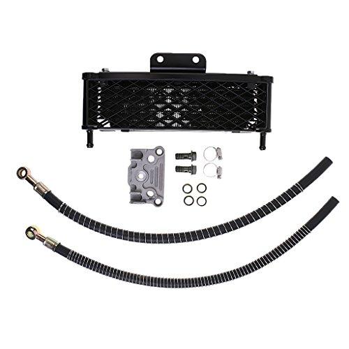 Sharplace CNC Alu Racing Ölkühler Set Autokühler Kit Motoröl Kühler Auto Radiator für 140/150/160cc Motorrad und Pit Bike