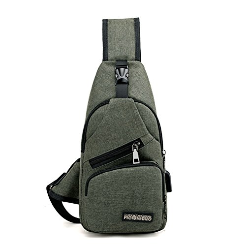 Kigurumi Brusttasche Sling Rucksack Schultertasche Brusttaschen für Herren Army grün