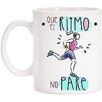 Taza Que el Ritmo no pare. Taza regalo para deportistas. Taza running