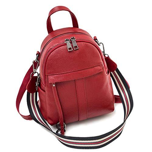 BHJqsy Womens Leder Rucksack Schule Rucksack - Mädchen College Schulter Satchel Reise UmhängetaschenHoliday Telefon Tote Bag Handtaschen 26 * 28 * 14 22 * 24 * 12