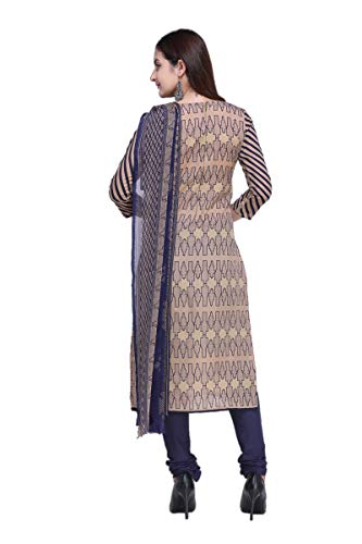 Vaamsi Women's Dress Material (Deep1056_Beige_One Size)