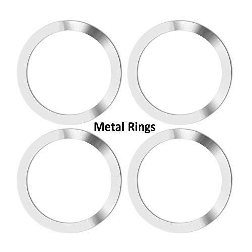 Neotrix Metall Ring Wireless Qi Standard Mobile Handy Air Vent Magnet Auto Halterung Halterung und Ladegerät (4 Stück)