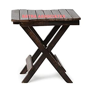 Batra Associates Wooden (Handicarft) Folding Carving Stand For Living Room Size (Lxbxh-12X12X12) Inch