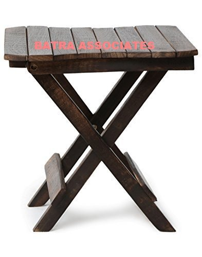 Batra Associates Wooden (Handicraft) Folding Carving Stand For Living Room Size (Lxbxh-15X15X15) Inch