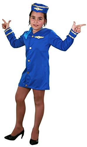 El Rey del Carnaval - Disfraz de azafata talla 10-12 años
