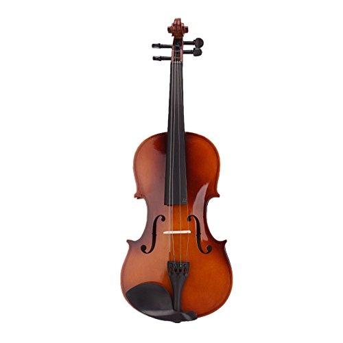 SODIAL (R) 4.4 Vollgroesse Natuerliche Akustische Geige Fiddle mit Case Bogen Rosin