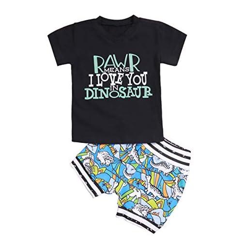 Toddler Baby Shorts Set Boy Girl Summer Short Sleeve T-Shirt and Shorts 2Pcs Outfits Set