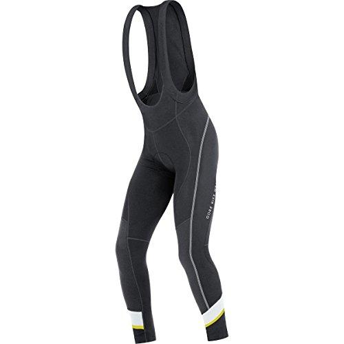 Gore Bike Wear Power 3.0 Thermo+ - Culote con tirantes para hombre, color negro / blanco, talla L