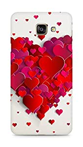 Amez designer printed 3d premium high quality back case cover for Samsung Galaxy A7 (2016 EDITION) (Heart of hearts)