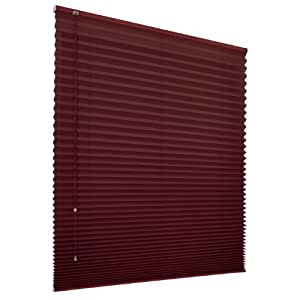 jalousiescout klemmfix eco plissee freih ngend 60 x 180cm rot ohne bohren k che. Black Bedroom Furniture Sets. Home Design Ideas