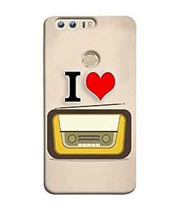 PrintVisa Designer Back Case Cover for Huawei Honor 8 (Background Technology Entertainment Communication Vintage)