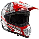 Römer 130145 Casque Moto Cross/MX Starcross, Rouge/Argent, XL