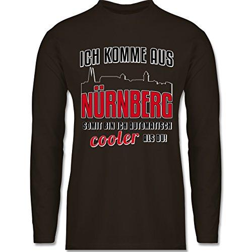 Städte - Ich komme aus Nürnberg - Longsleeve / langärmeliges T-Shirt für Herren Braun