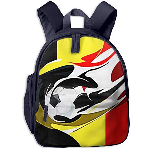 Mochilas Infantiles, Bolsa Mochila Niño Mochila Bebe Guarderia Mochila Escolar con Balón Fútbol Bélgica para Niños De 3 A 6 Años De Edad