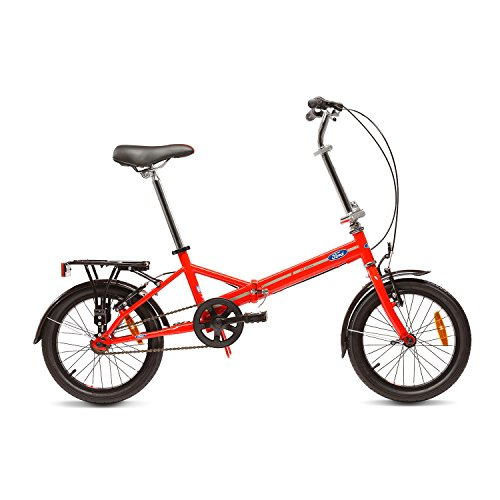 Ford B-Max Bicicleta Plegable, Unisex Adulto, Rojo, 16'