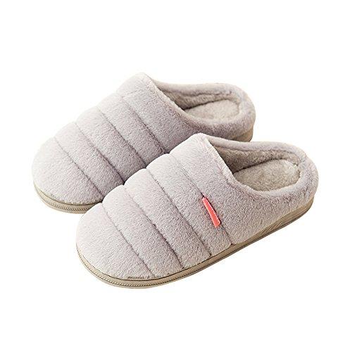 YMFIE Chers Chaussons en coton intérieur en daim mignon chaussons en hiver G