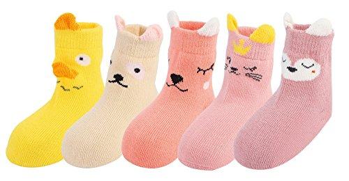 Y-BOA Chaussette Longue Basse Sock Bébé Fille Garçon Naissance Mignon Chausson