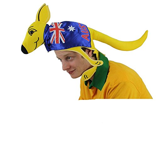 RALISCHER KANGURU HUT = KÄNGURU HUT FÜR RUGBY /FUSSBALL WELTMEISTERSCHAFT ODER CRICKET - FANCY DRESS ACCESSORY HUT FÜR AUSTRALIEN SPORT SUPPORTER ODER FAN KOSTÜME 1 KANGAROO HUT ()