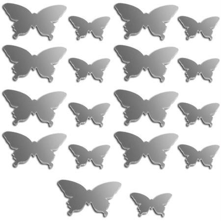 Spiegel Deko Schmetterling–2bis 3cm–18pcs